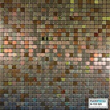 Amazon.com: FLEXIPIXTILE, Modern Aluminum Mosaic Tile, Peel & Stick ...