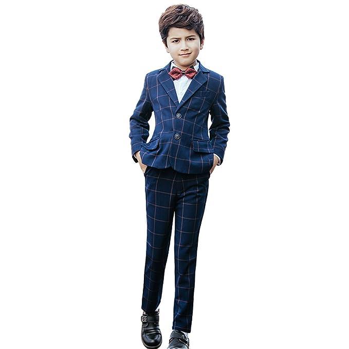 Amazon.com: yanlu 5 piezas Boys trajes formales establecidos ...