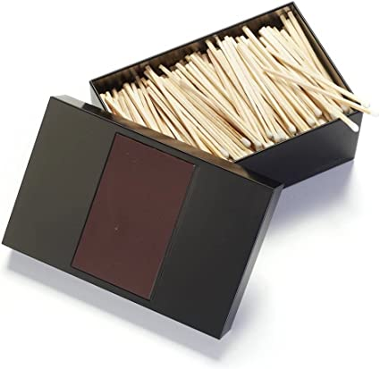 Corriente® Caja de cerillas, pequeño, b12,4 X l17,3 X H7 cm, Negro: Amazon.es: Oficina y papelería