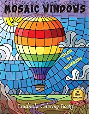 Mosaic Windows Color by Numbers: Coloring with numeric worksheets, Color by number for adults and children with colored pencils. Advanced color by number, the whole family will be happy with this book