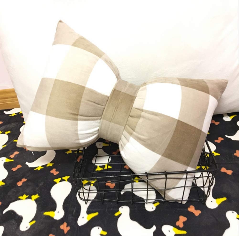 DYMY Pl/üschkissen Bogen mit f/üllung Spielzeug deko Kissen Kurze Pl/üsch Sofa Office dekorative Rosa 45*35cm