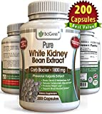 100% Pure White Kidney Bean Extract 1800mg (200 Capsules) Best 2 Phase Carb and Fat Blocker & Starch Intercept Supplement For Weight Loss (More potent than 500mg, 1000mg or 1500mg, Powder or Liquid)