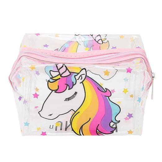 6314b123c nicebuty transparente unicornio neceser de maquillaje compartimento bolsa  Cosmética - Estuche para bolígrafo Beaute COSMETIQUES maquillaje bolsa de  viaje ...