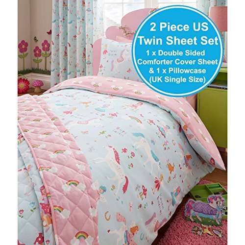 Magical Unicorn Single Us Twin Duvet Cover And Pillowcase