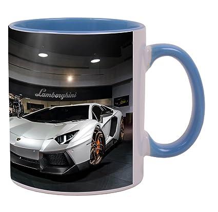 Latest Design 2014 Lamborghini Aventador Novitec Torado Wallpa Beautiful  Amazing Blue Mug