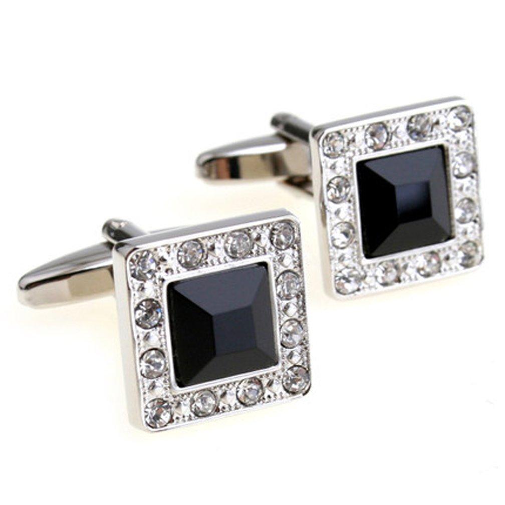 Super Shiny Swarovski Quality Crystal Cufflinks Elegant Style Business Party Used