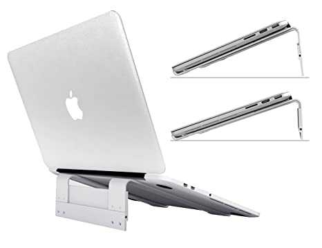 6amLifestyle Soporte Ajustable para Ordenador portátil de sobremesa, ventilado, portátil, de Aluminio,