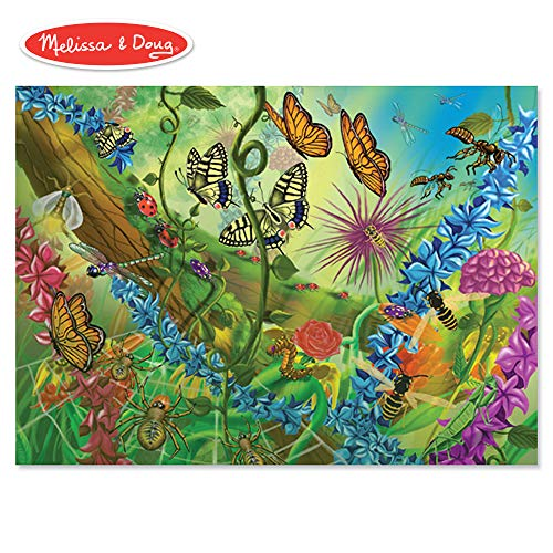 - Melissa and Doug World of Bugs 60 Piece Jigsaw Puzzle