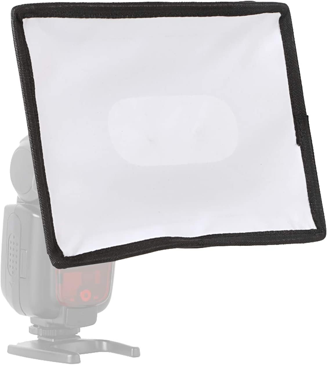 Mini Fabric Softbox with Roll-Up Windows for Extra Fill Light 6 x 8 inches Universal Fits Most Speedlight Easy Hood Flash Diffuser Light Softbox