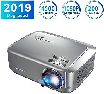 Proyector4500 Lúmenes Excelvan Proyector de Video Portátil ...