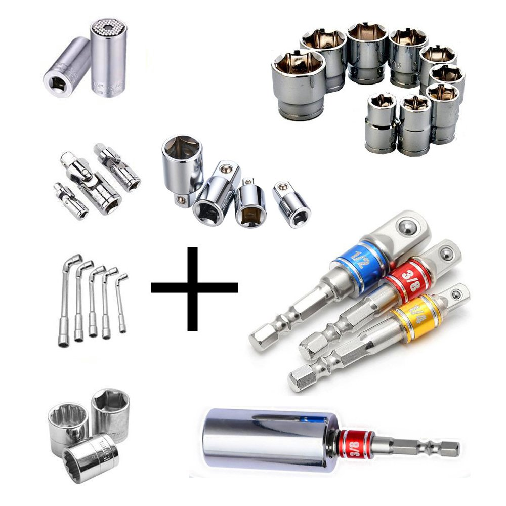Magnetic Screwdriver Drill Bit Holder Quick Change and Deburring Tool External Chamfer Drill Bit External Uniburr Pro Stainless Steel Quickly Repairs Damaged Bolts Size 8-32 Bolts