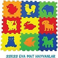 AKAR - Mat 33x33 Hayvanlar, 7 mm