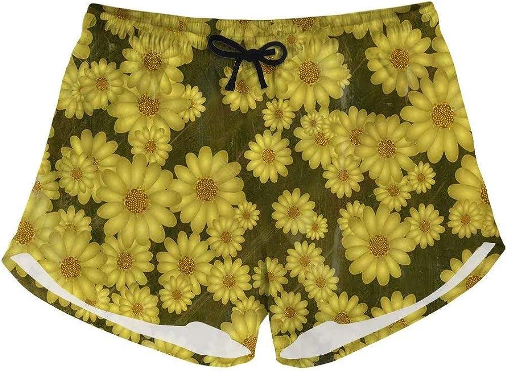 Advocator Womens Plus Size Swim Shorts Floral Print Boardshorts Hawaii Style Summer Beach Trunk Swimwear Bottom