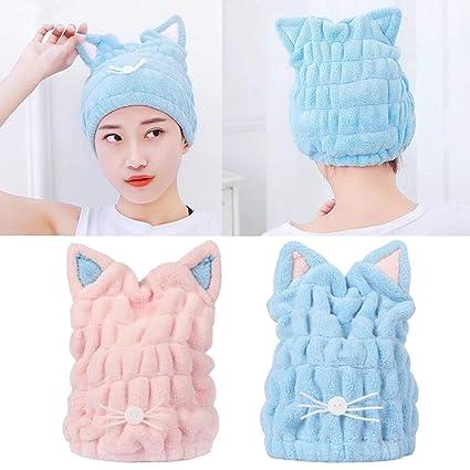 ecmqs gorro de baño – microfibra – Servilletas secador envolvente de toalla de baño Ultra suave