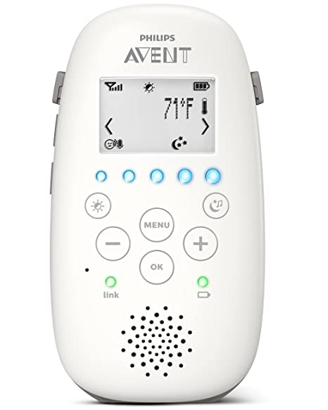 Philips Avent Dect Audio Baby Monitor with Starry Night ProjectorSCD730//86