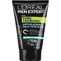 L'Oréal Paris Men Expert Pure Power Face Scrub For Men, Exfoliating Blackhead Wash, for Oily Skin and Breakouts, 100ml
