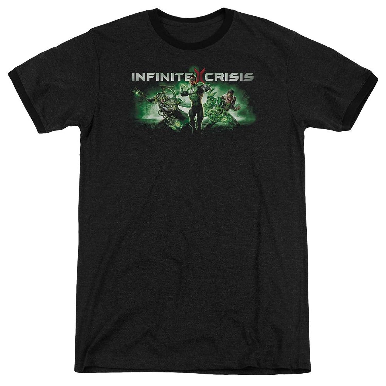 Infinite Crisis Men's Ic Green Ringer T-Shirt