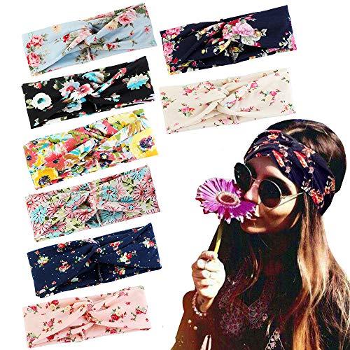 Adramata 8 Pcs Headbands for Women Girls Wide Boho Knotted Yoga Headband …