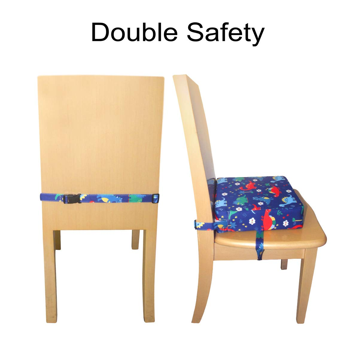Christmas Tree Sunmall Dining Chair Heightening Cushion Portable Dismountable Adjustable Highchair Booster for Baby Toddler Kids Infant Washable Thick Chair Seat Pad Mat
