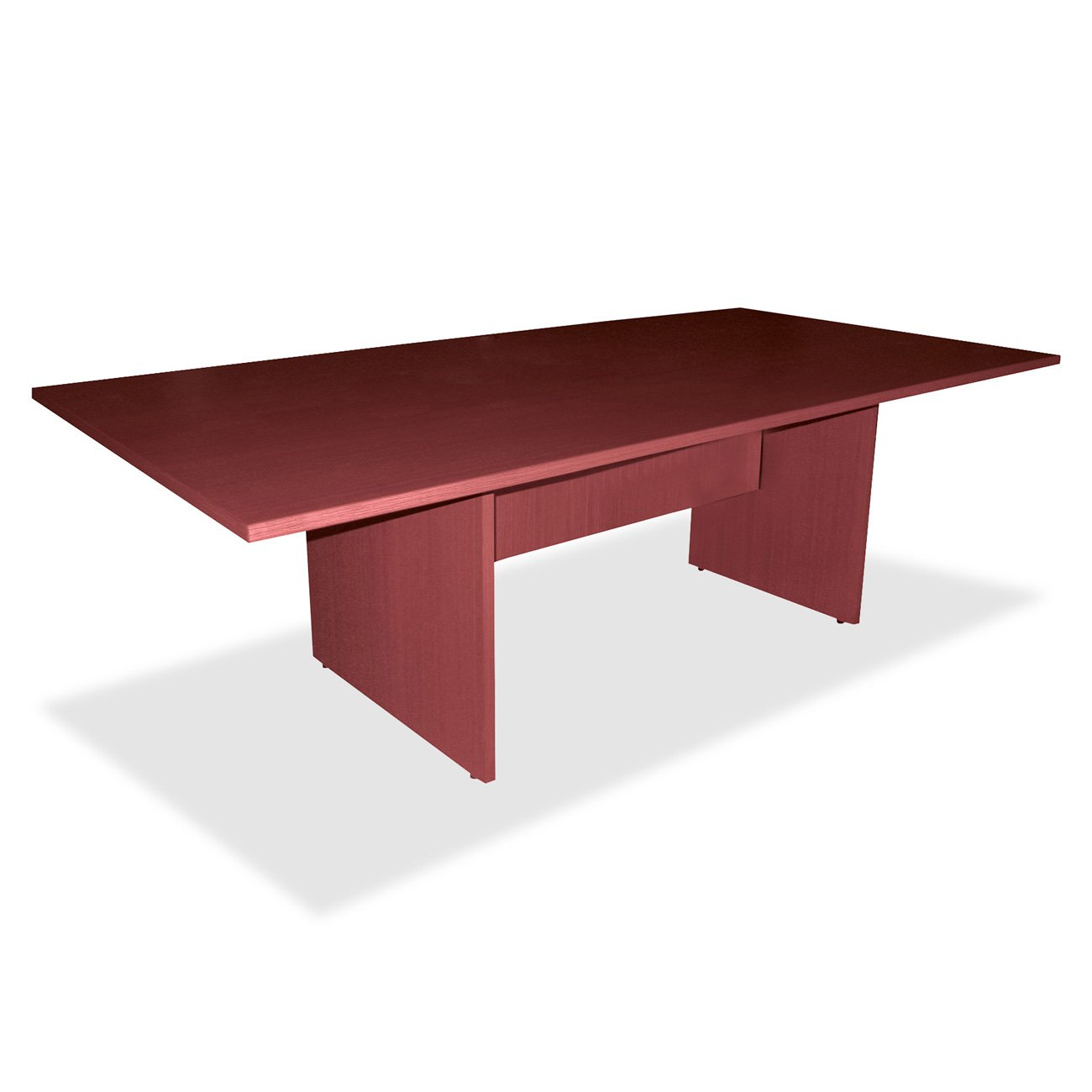 Lorell Conference Table Base, 96 by 48 by 28-Inch, Mahogany