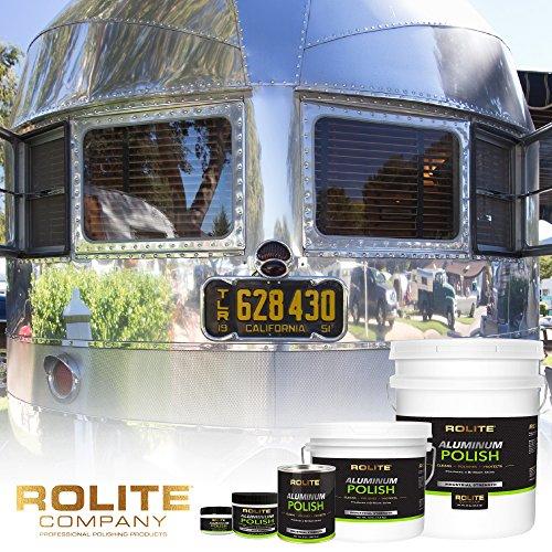 Rolite Aluminum Polish (1lb) for All Aluminum & Bare Metal Surfaces, Canoes, Jon Boats, Pontoons, Diamond Plate, Aluminum Non-Coated Wheels 12 Pack