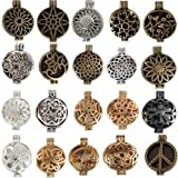 10/lot Mix Style Alloy Locket Essential Oil Aromatherapy Diffuser Pendant Charms Necklace Jewelry Findings