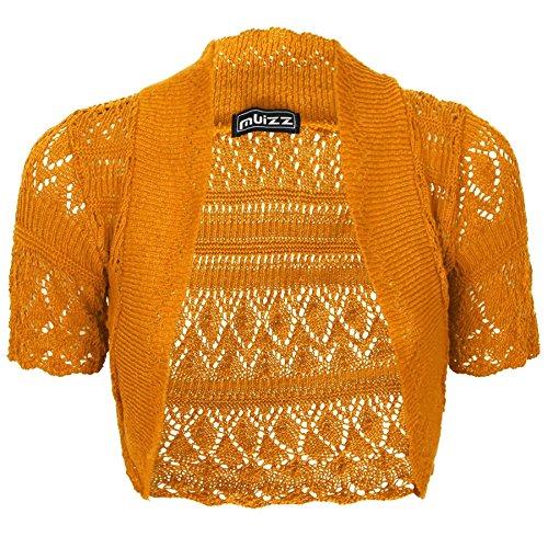 Donna Top Disponibili I Confezione Mustard Le A E Dimensioni Lavorato Spalle Da Tutti Colori Maglia Uncinetto In Cardigan dc6qTwUv