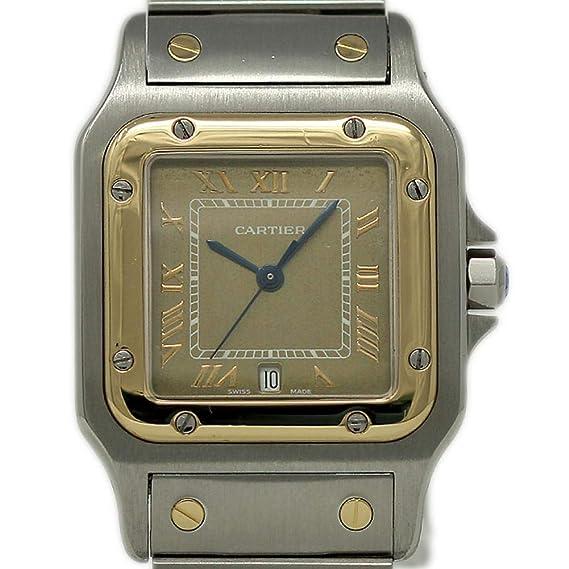 64972257f32a1 Cartier Santos Galbee 1566 - Reloj de Cuarzo Suizo para Mujer (Certificado  prepropietario)