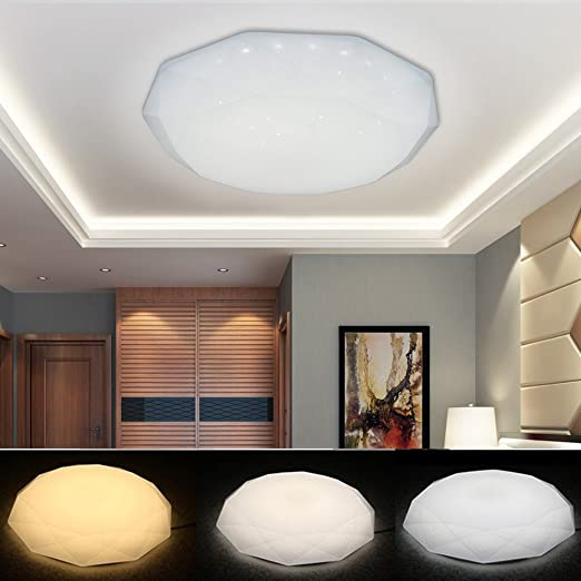 VGO 50W plafon LED luz del techo con efecto cielo estrellado ideal cambio de color ideal para sala de estar, dormitorio,baño, pasillo