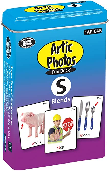 Super Duper Publications Articulation Photos S Blends Fun Deck Flash Cards Revised Photos Educational Learning Resource for Children