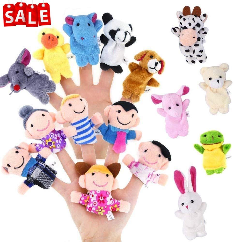 Lumiparty 10 Stü ck Fingerpuppen, Stofftier Kinder Lernspielzeug,Weiche pä dagogische Handpuppe Set fü r Baby und Kleinkinder (10er) Hihoddy