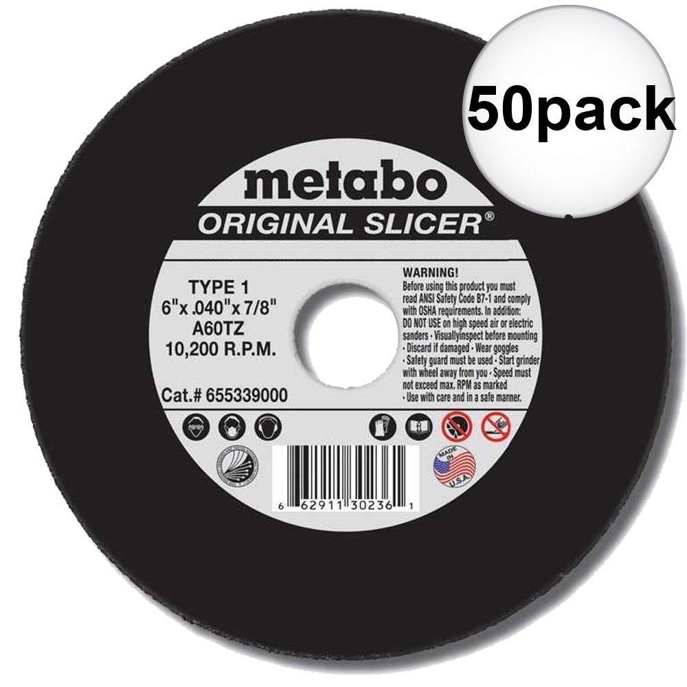 Metabo 55-339 6'' x 7/8'' x .040 Cut Off Slicer Wheel 400-Pack