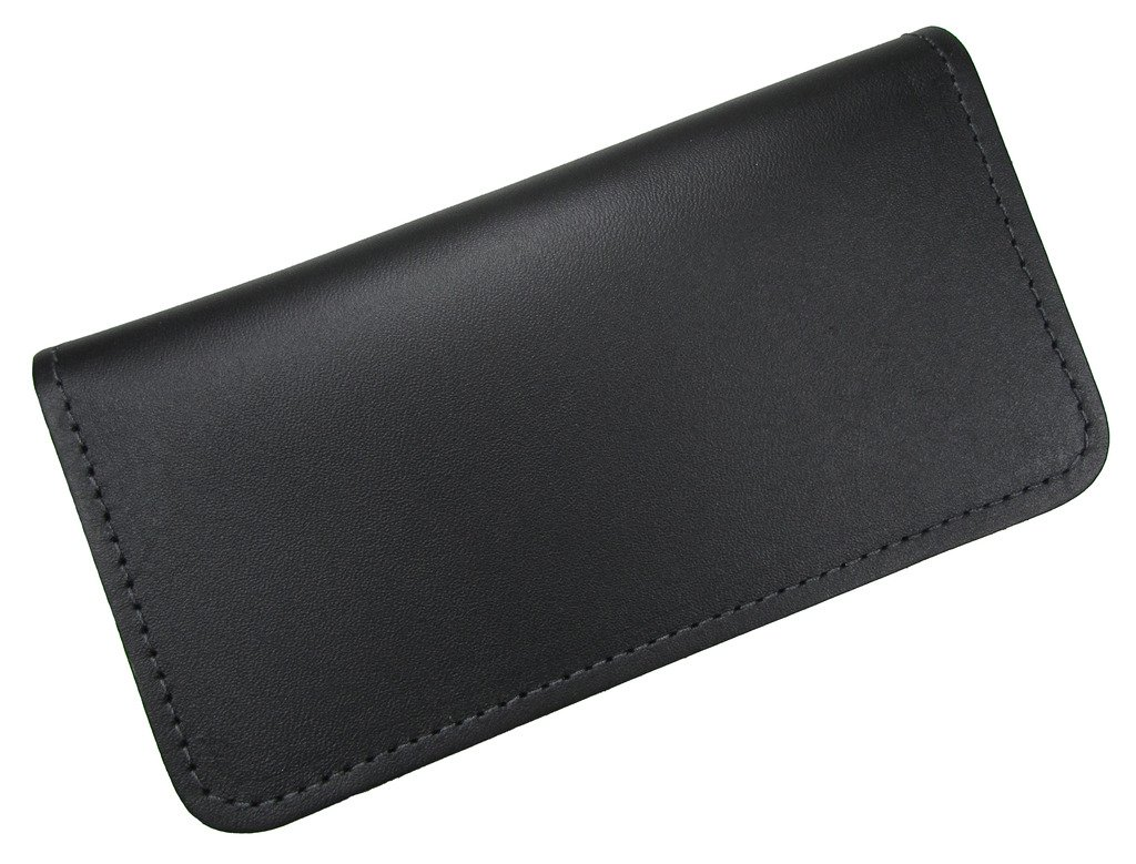 Unisex Leather Standard Checkbook Cover USA Made, Black