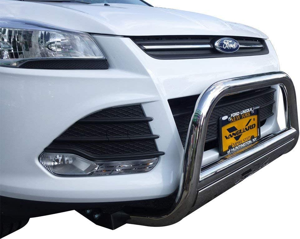 VANGUARD VGUBG-0982SS-20LED For Ford Escape 2013-2018 Bumper Guard Stainless Steel Bull Bar with Skid Plate and 20 inch LED Light Bar Combo