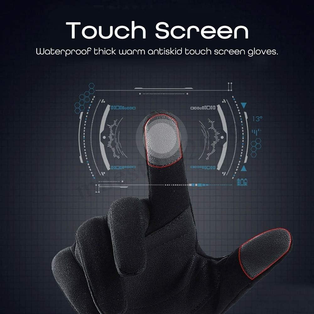 Leslaur Paire de Gants de Moto Doigts de Doigts Chauds /écran Tactile pour Motocross Dirt Bike VTT