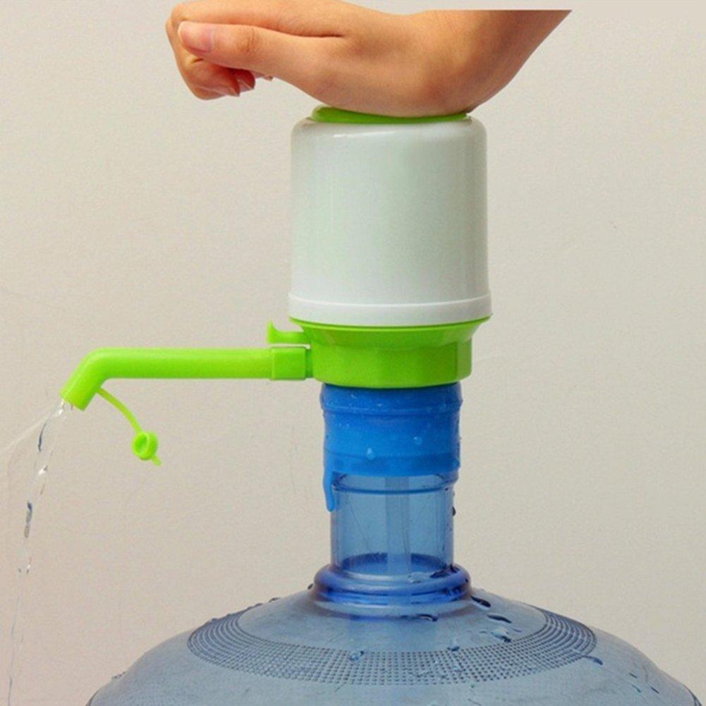 Handpresse für Trinkwasser in Flasche, Handpresse, tragbar, für Schule, Zuhause, Büro, 1 Trinkwasserpumpe mit 3 Schlauchverlängerungen Free Size grün für Schule Büro Dyda6