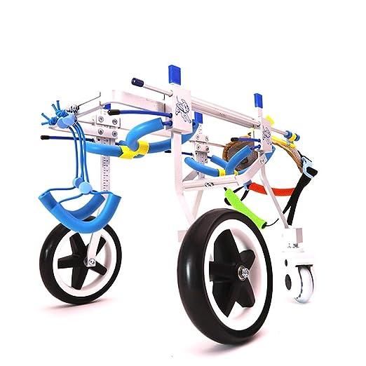 QRFDIAN Gato y perro discapacitados en silla de ruedas 瘫痪 silla de ruedas para mascotas automóvil miembro trasero silla de paseo, silla de ruedas para ...