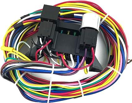 Voupuoda Arnés de cableado Universal de 12 circuitos Kit de Cables ...