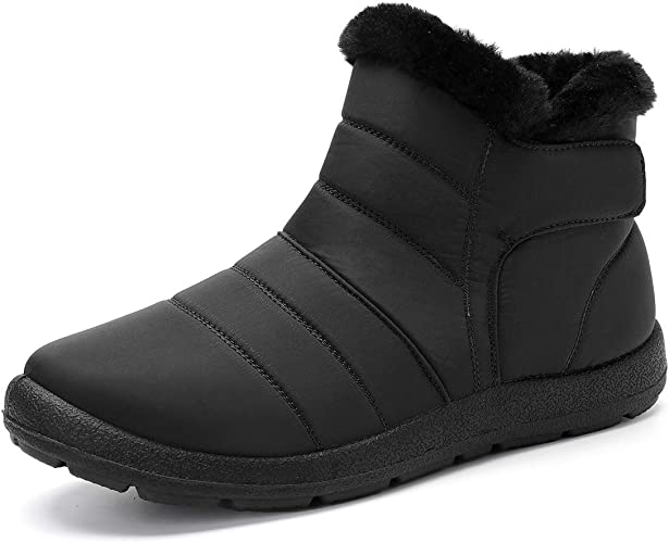 Snow Boots for Women and Men Winter Fur Lined Warm Shoes Casual Anti-Slip Waterproof Wide Calf Boots