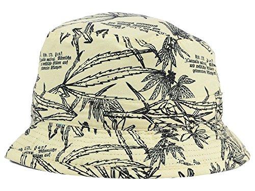 Hemp Hat - Lids Mens Reversible Bucket Hat (Small/Medium, Word Mark Hemp)