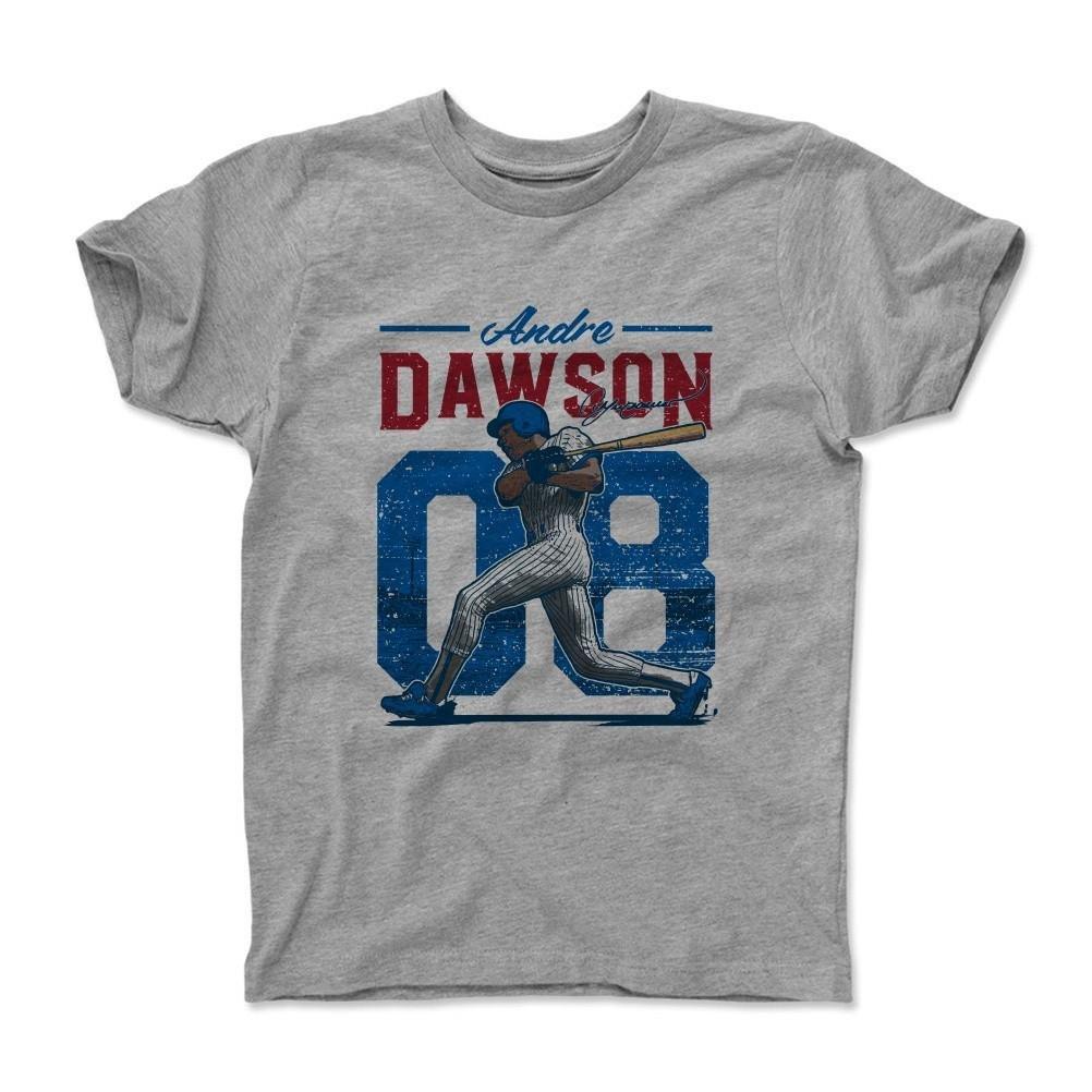 500レベルのAndre Dawsonユース&キッズTシャツ – Vintageシカゴ野球ファンギア&スポーツアパレル – Andre DawsonヴィンテージB 14-16Y ヘザーグレー B073TGX96S