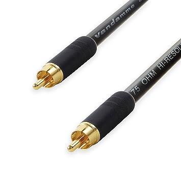 Premium Van Damme coaxial RCA a RCA LEAD. 75 Ohm Cable Coaxial SPDIF de vídeo