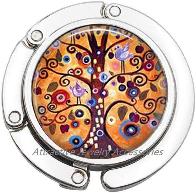 Glass Tile Purse Hook Tree Purse Hook Tree of Life Glass Tile Jewelry Tree Jewelry Brass Purse Hook Glass Tile Bag Hook Brass Jewelry,QK054 Q2
