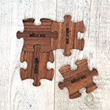 Mr.Art Wood Wooden Puzzle Drink Coasters