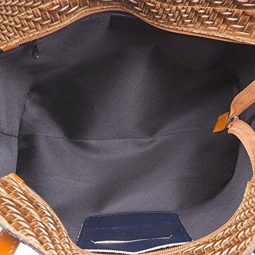 pour bleu à l'épaule marine Cuir à ARTEGIANI Sac femme FIRENZE porter wqZFfa