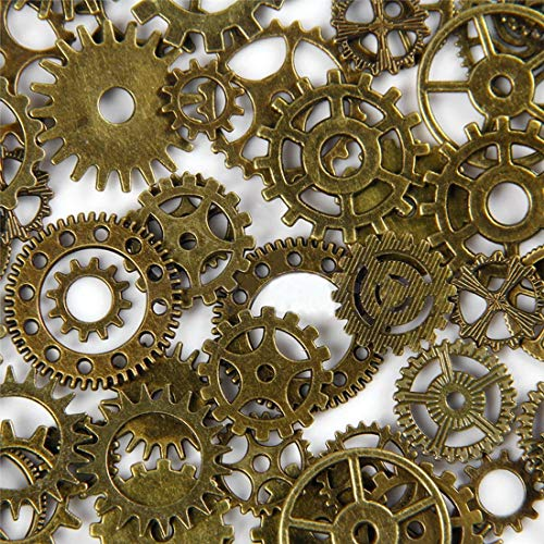 VTG Watch Parts 100Gram/Bags Steampunk Cyberpunnk Cogs Gears Bronze Antique Vintage DIY Charms Necklace Pendants Wedding -