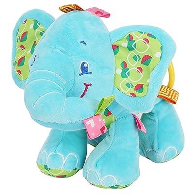 Juguetes Colgantes de Animales para Cuna Cochecito Carrito, dibujos animados elefante cochecito de bebé Sonajero juguetes cuna cochecito móvil sonajeros para bebés recién nacidos(Blue): Bebé