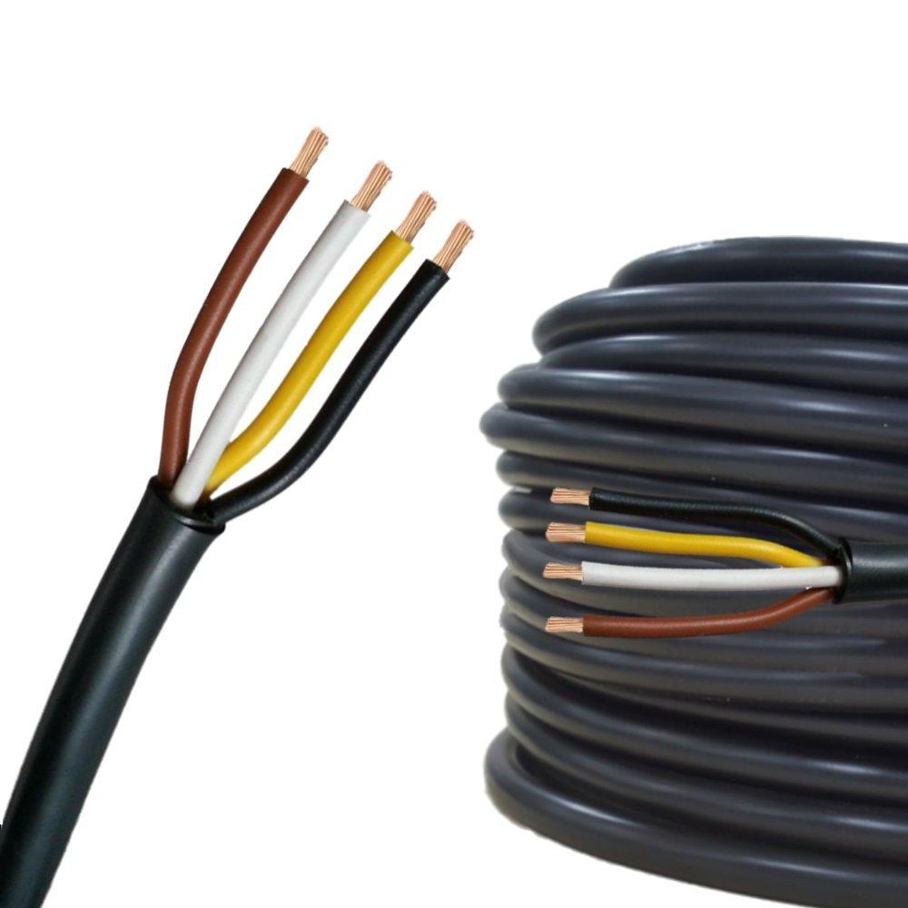 10m 20m o 50m selezione: 20m metri Cavo elettrico multipolare per automobile // rimorchio 5m 2 poli 2 x 0.5 mm/² cavo tondo