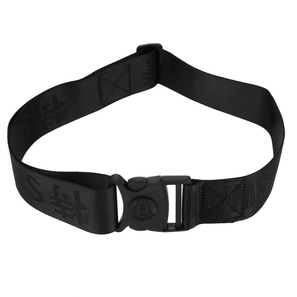 Tactical Belt, Heavy Duty Security Guard Police Utility Quick Release Nylon Metal Buckle Belt Waistband - Black