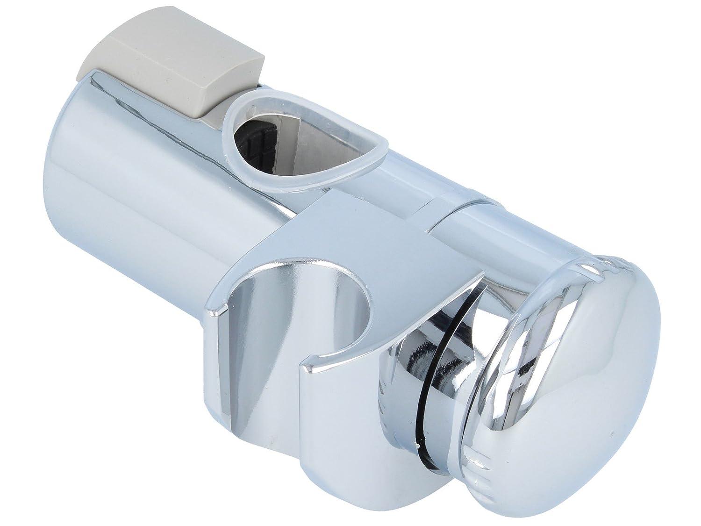 tecuro Universal Gleiter Schieber Brausehalter f/ür Wandstange /Ø 25 mm chrom